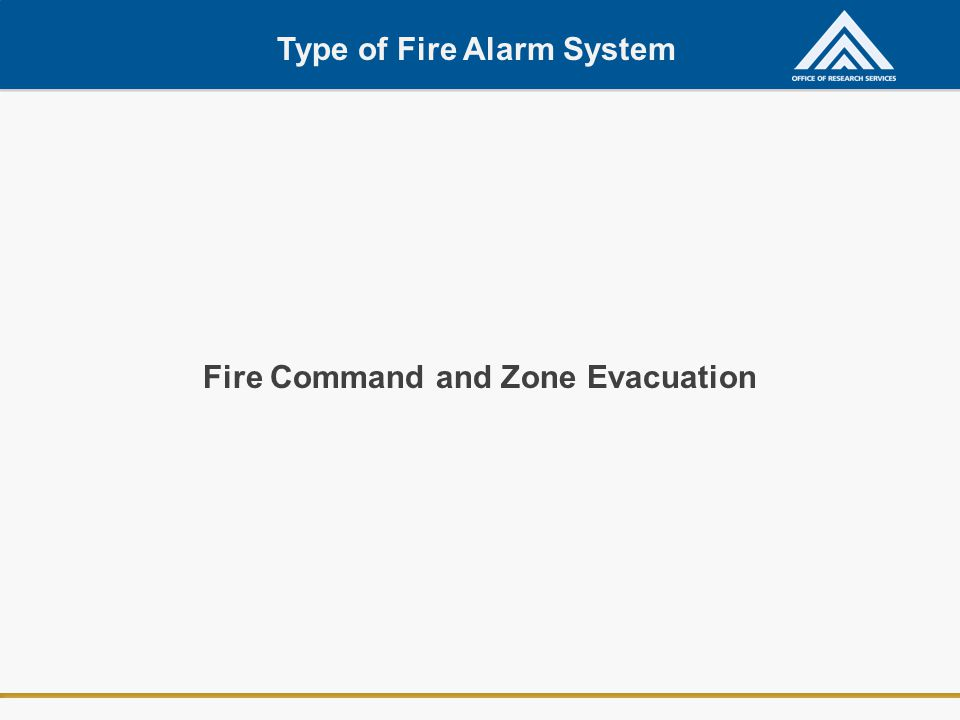 Fire Command and Zone Evacuation Type of Fire Alarm System