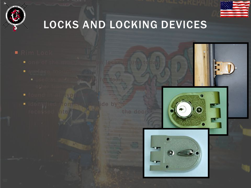 Rim Lock one of the most common locks in use today surface mounted used as an add-on lock for doors that already have other types of locks found in al