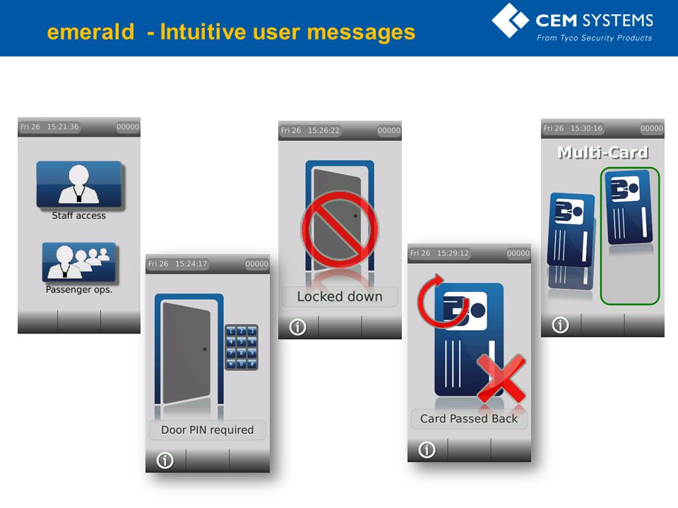 Company Confidential emerald - Intuitive user messages