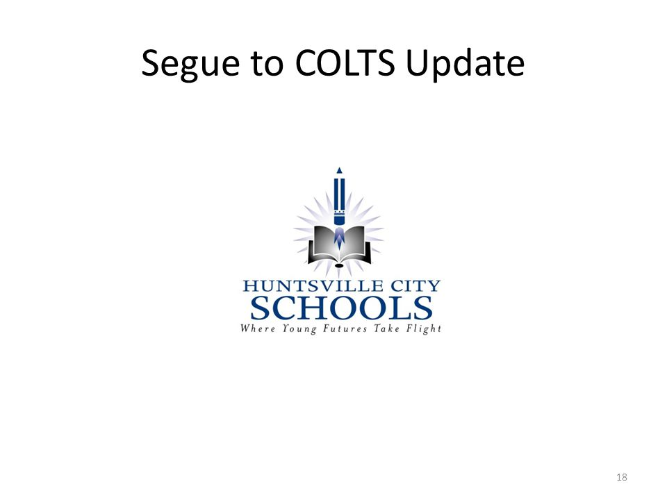 Segue to COLTS Update 18
