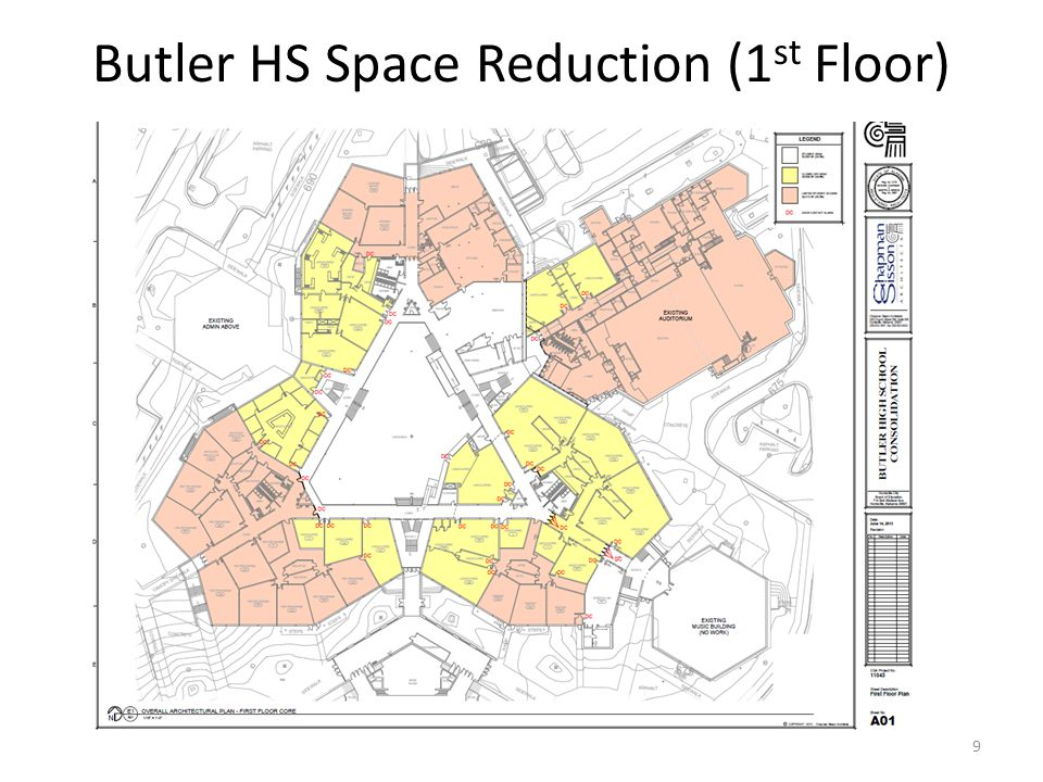 Butler HS Space Reduction (1 st Floor) 9