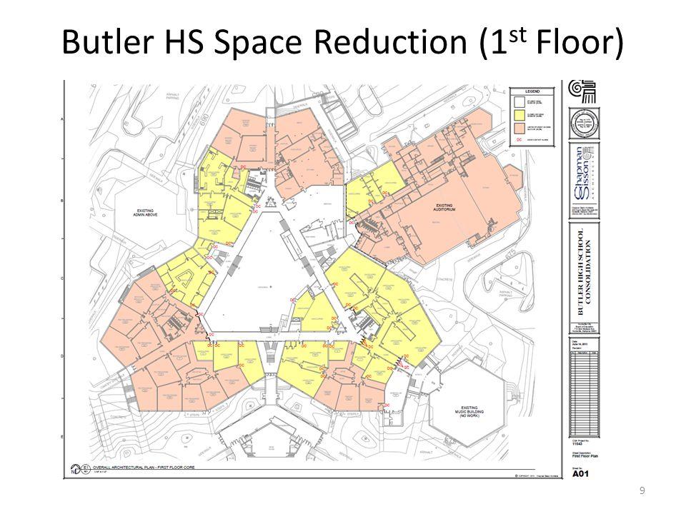 Butler HS Space Reduction (1 st Floor) 9