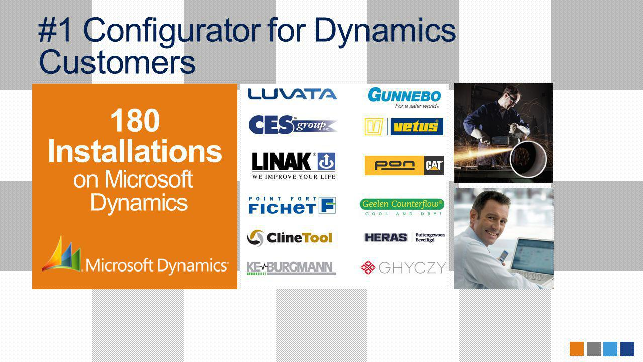 #1 Configurator for Dynamics Customers