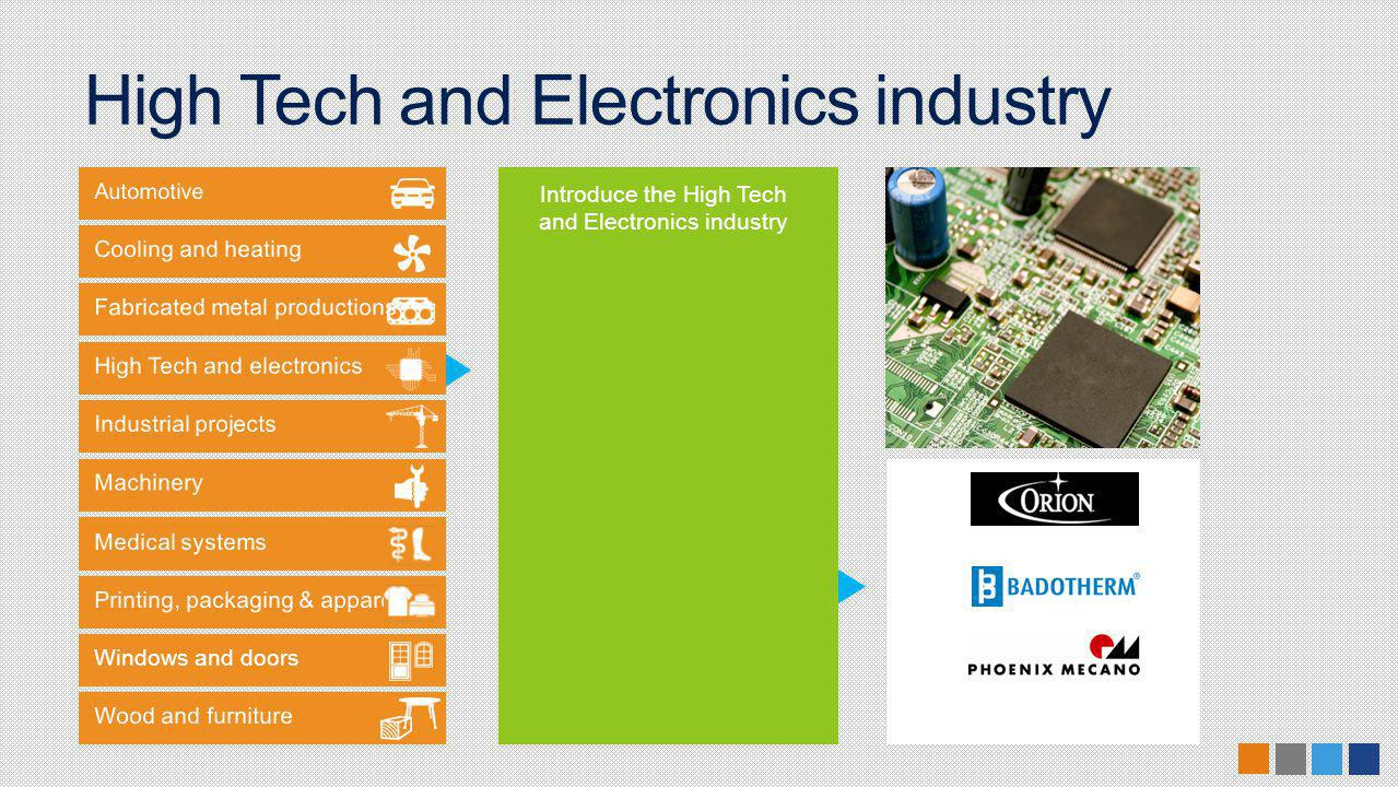 Windows and doors Introduce the High Tech and Electronics industry High Tech and Electronics industry