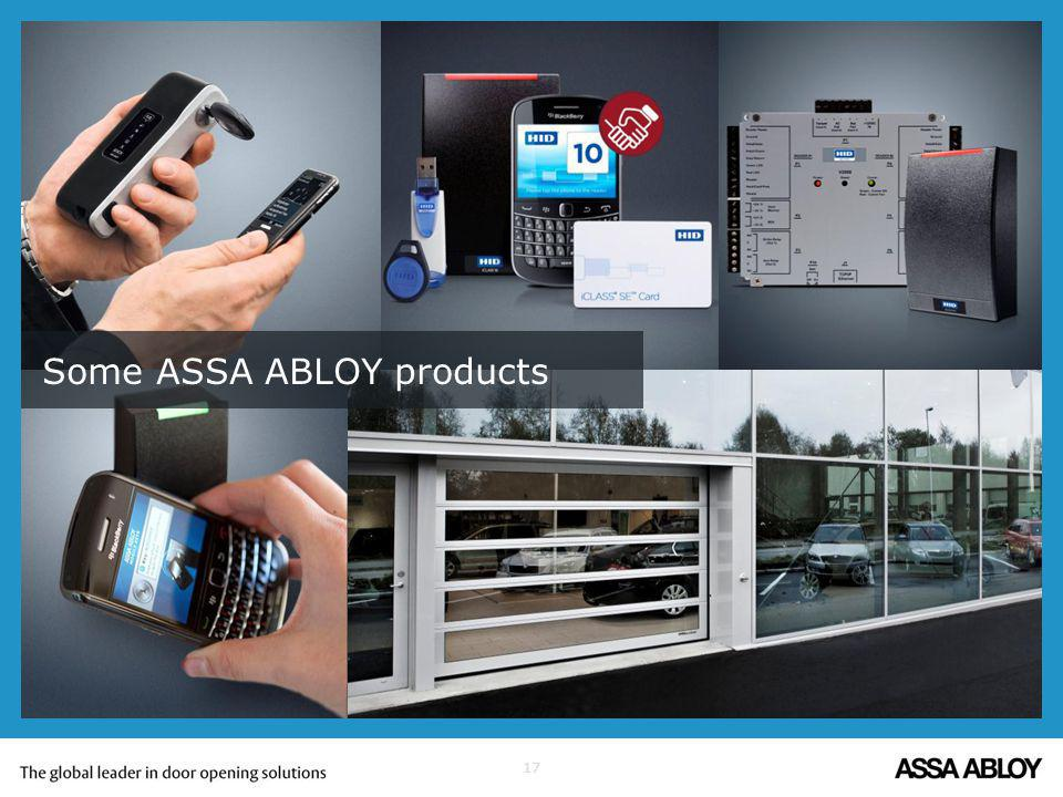 17 Some ASSA ABLOY products
