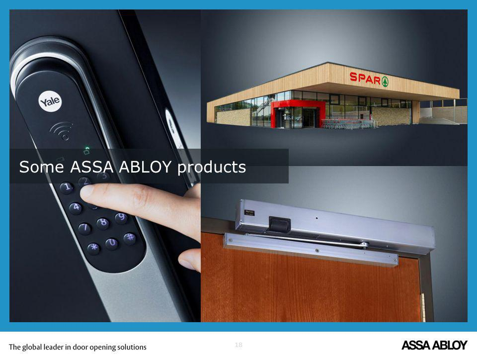 18 Some ASSA ABLOY products