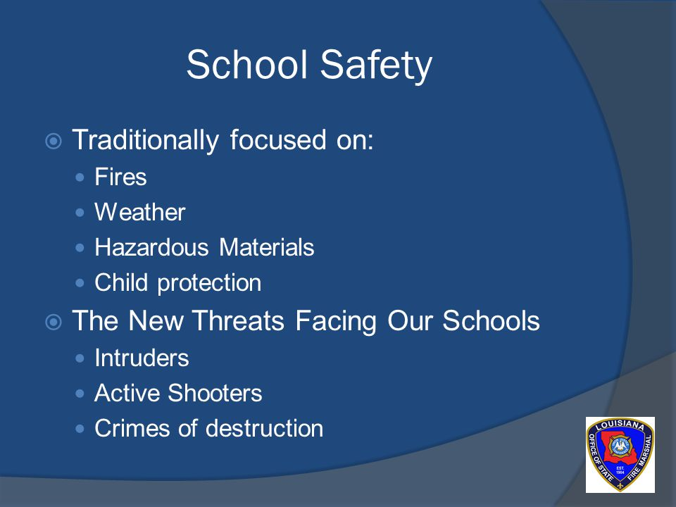 ADDITIONAL RESCOURCES: Marshal Ray Reynolds School Safety Advisory Committee Response Flip Chart Controlling the White Noise