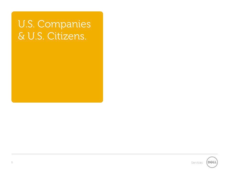 5 Services U.S. Companies & U.S. Citizens.