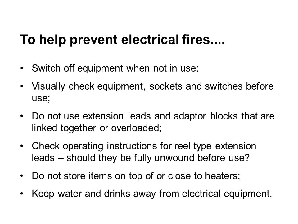To help prevent electrical fires....