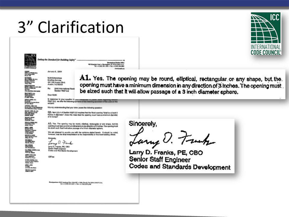 3 Clarification