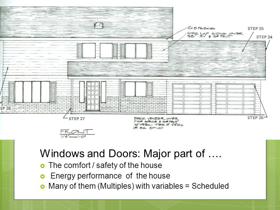 Windows and Doors: Major part of ….