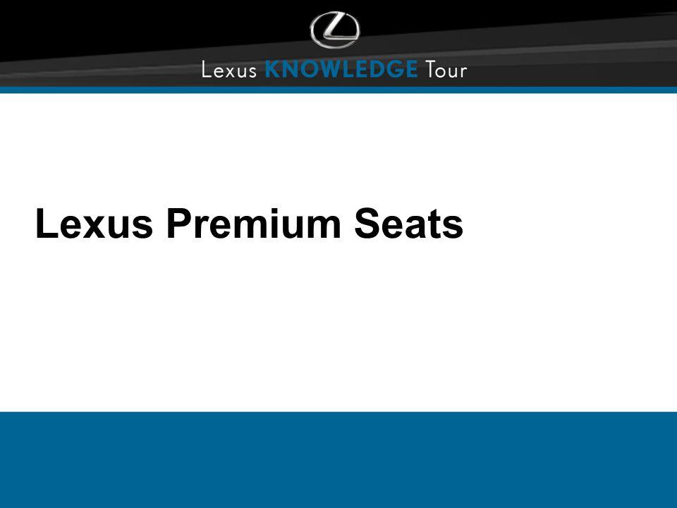 Lexus Premium Seats