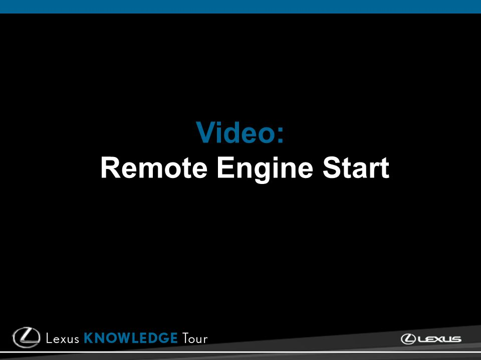 Video: Remote Engine Start