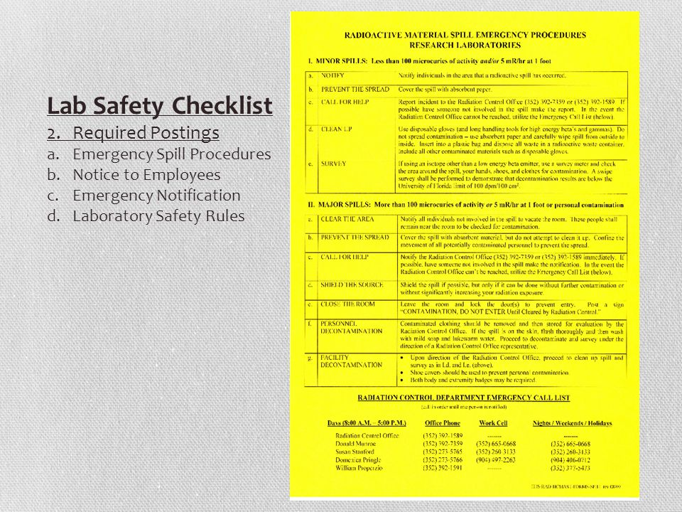 Lab Safety Checklist 2.