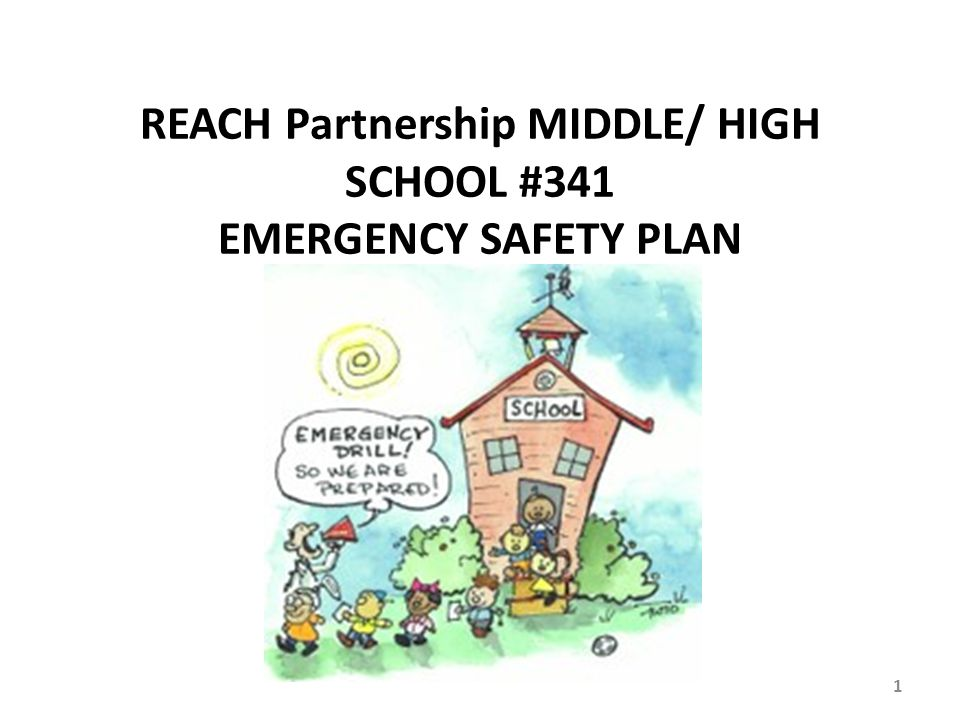 REACH Partnership MIDDLE/ HIGH SCHOOL #341 EMERGENCY SAFETY PLAN 1