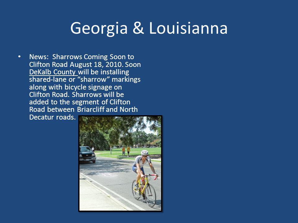 Georgia & Louisianna News: Sharrows Coming Soon to Clifton Road August 18, 2010. Soon DeKalb County will be installing shared-lane or sharrow markings