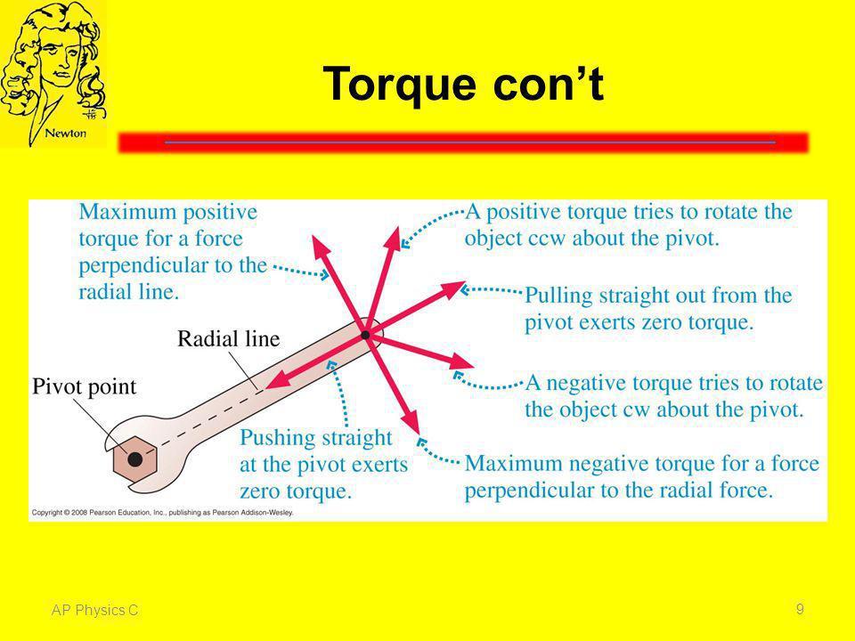 Torque cont AP Physics C 9