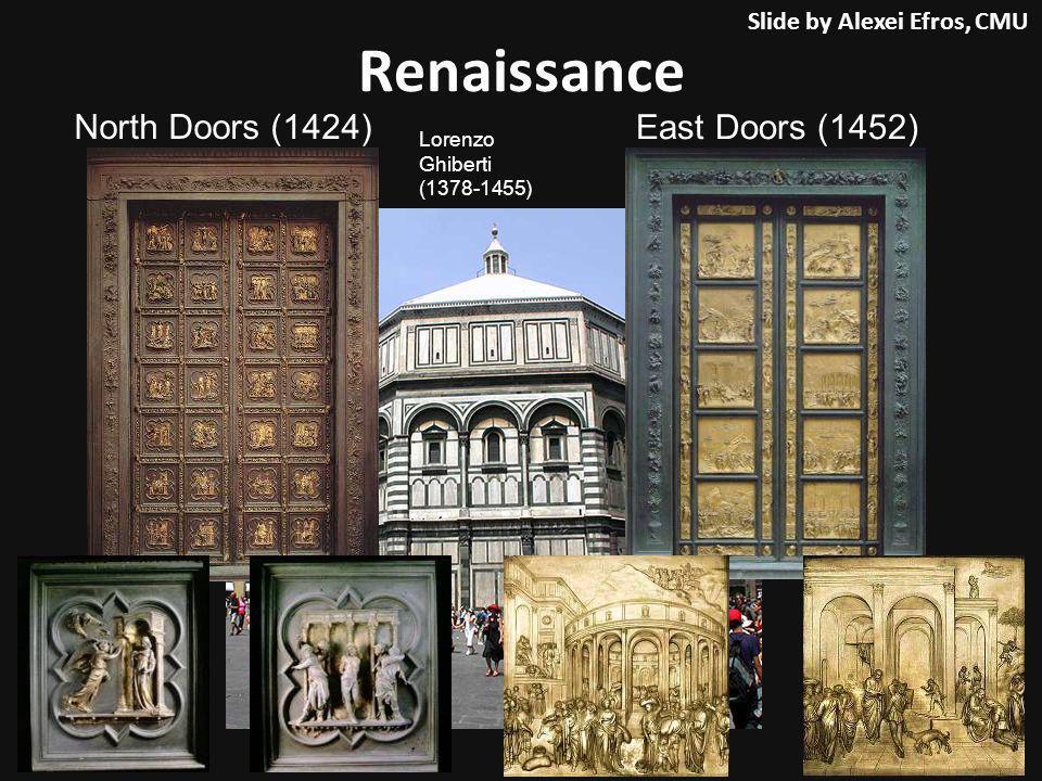Renaissance East Doors (1452) North Doors (1424) Lorenzo Ghiberti (1378-1455) Slide by Alexei Efros, CMU