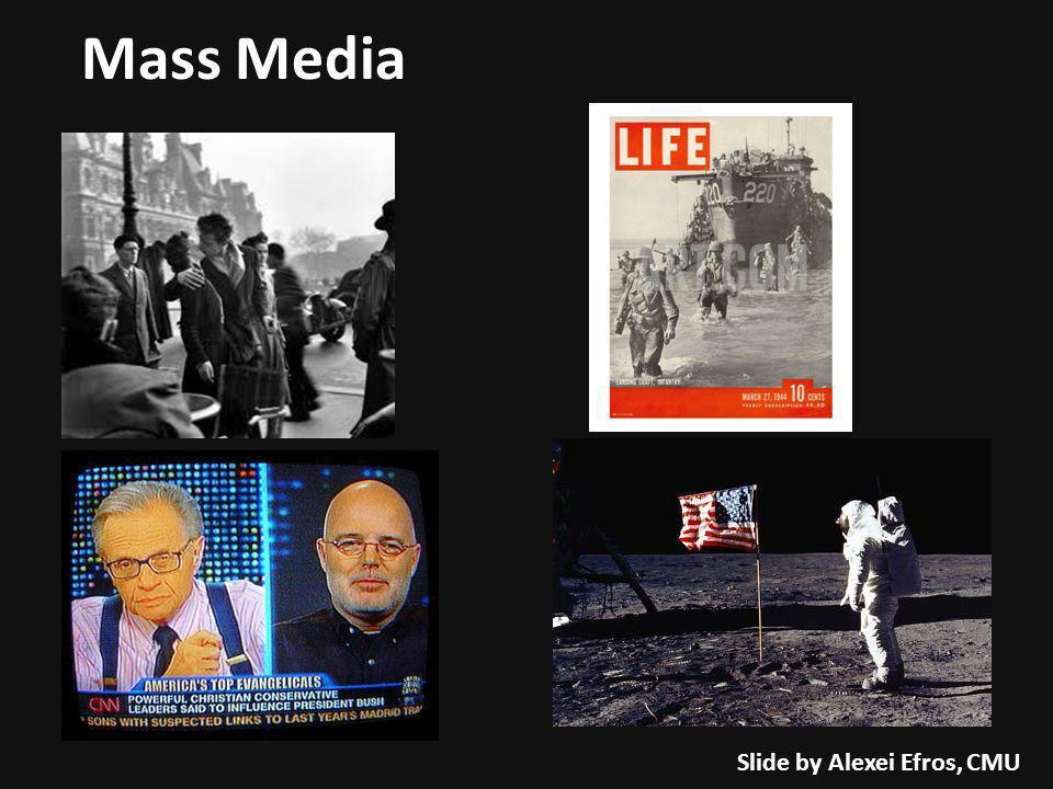 Mass Media Slide by Alexei Efros, CMU