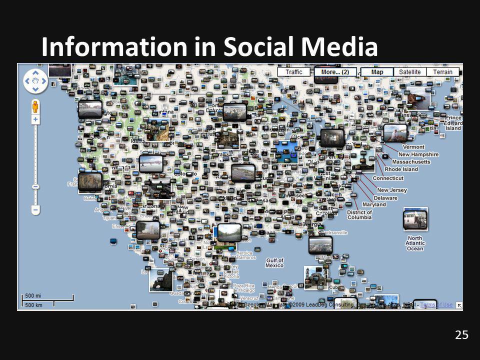 Information in Social Media 25