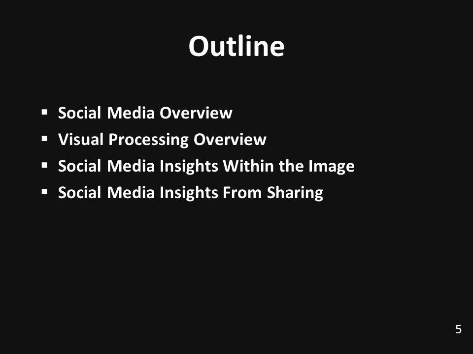 Outline Social Media Overview Visual Processing Overview Social Media Insights Within the Image Social Media Insights From Sharing 5 TexPoint fonts used in EMF.