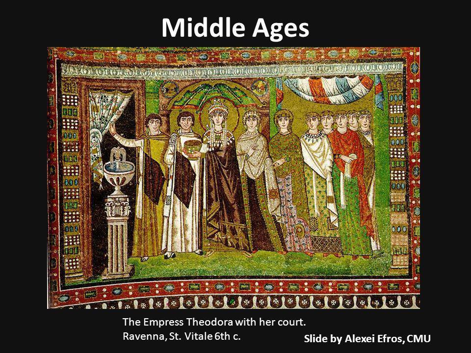 The Empress Theodora with her court. Ravenna, St.