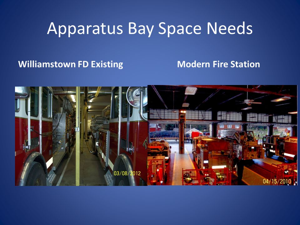 Apparatus Bay Space Needs Williamstown FD ExistingModern Fire Station
