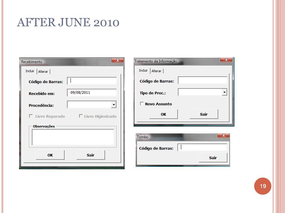 19 AFTER JUNE 2010 19