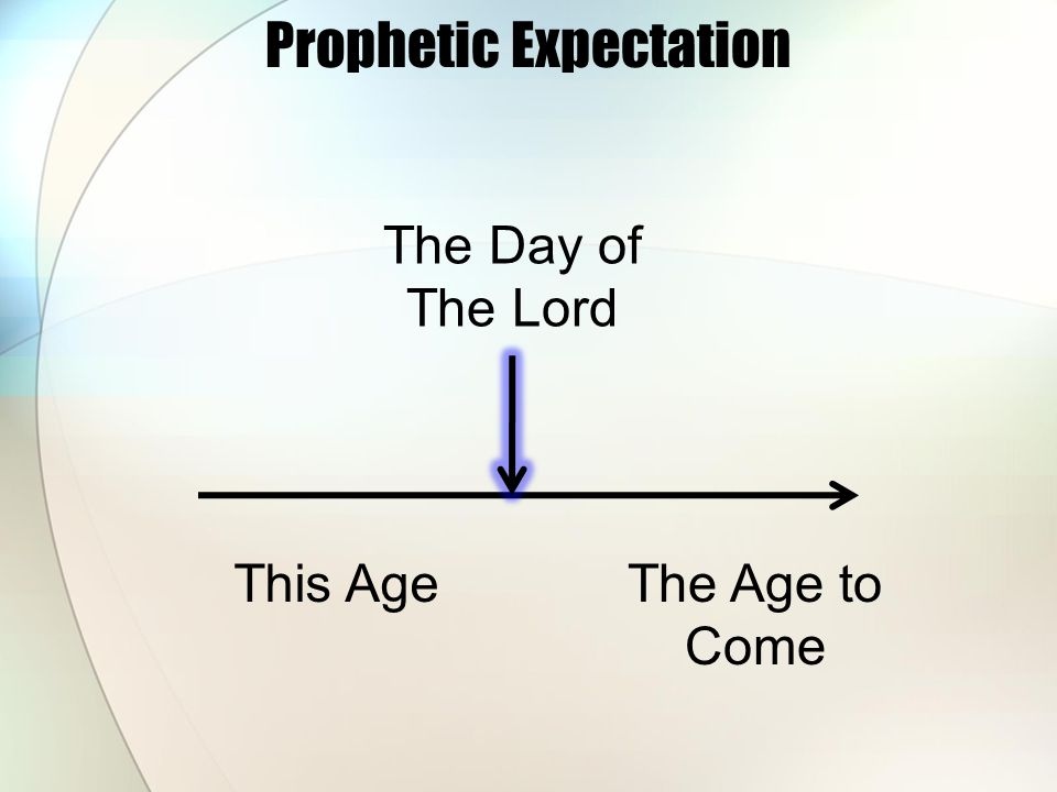 Prophetic Expectation This AgeThe Age to Come The Day of The Lord