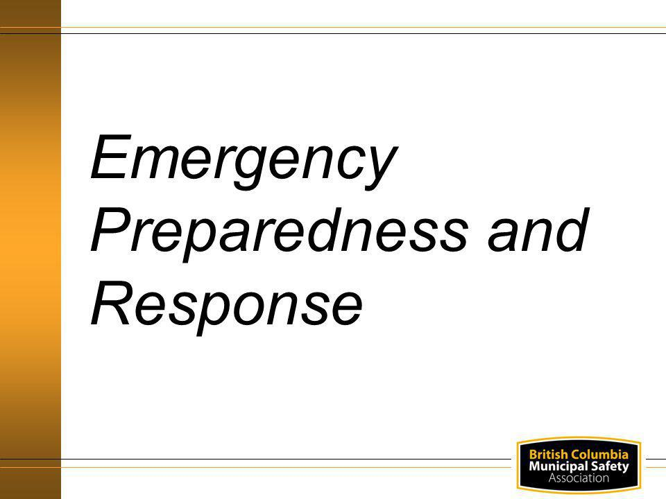 Emergency policies, procedures and work arrangements Understand and follow emergency procedures Training - fire prevention, emergency evacuation and rescue Responsibilities - Designated Supervisor