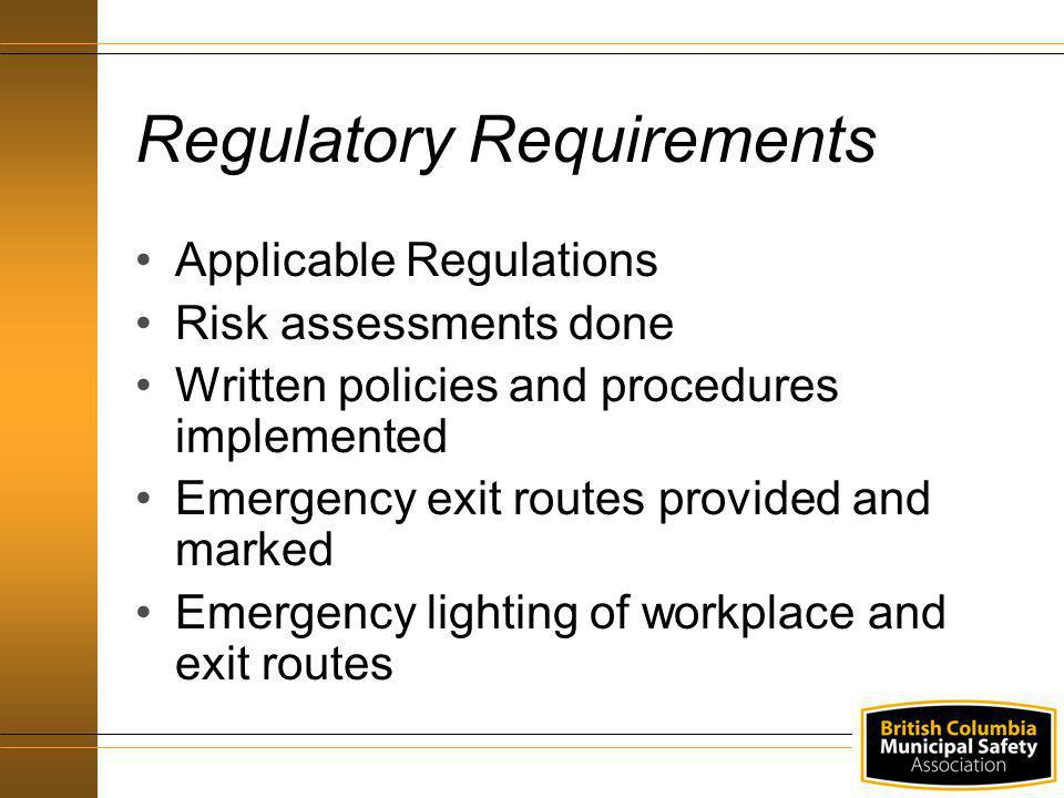 Recruit workers Wear designated hardhat and high visibility vest Ensure area is evacuated Ensure assistants are available to help in evacuation Responsibilities – Emergency Warden (contd)