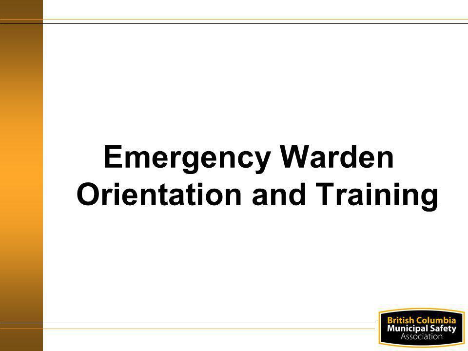Emergency Warden Orientation and Training