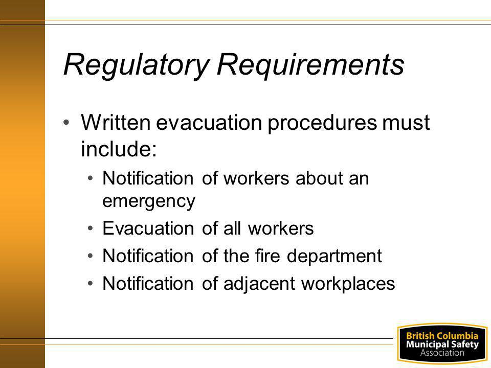 Site specific emergency procedure Emergency hazard identification and risk assessment Communication Responsibilities – Managers (contd)