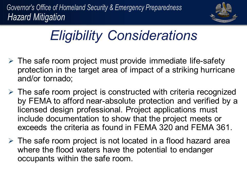 FEMA 361 provides an alternative method to calculate usable square footage: – For areas with concentrated furnishing or fixed seating, reduce gross floor area by a minimum of 50% – For areas with un-concentrated furnishing and without fixed seating, reduce gross floor area by a minimum of 35% – For areas with open plan furnishing and without fixed seating, reduce gross floor area by a minimum of 15% Calculating Usable Area (contd)