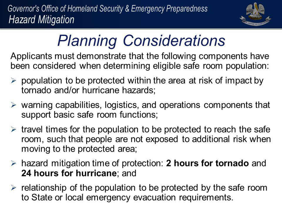 Additional Information For additional information or additional questions : Jeffrey Giering State Hazard Mitigation Officer jeffrey.giering@LA.GOV 225-267-2516