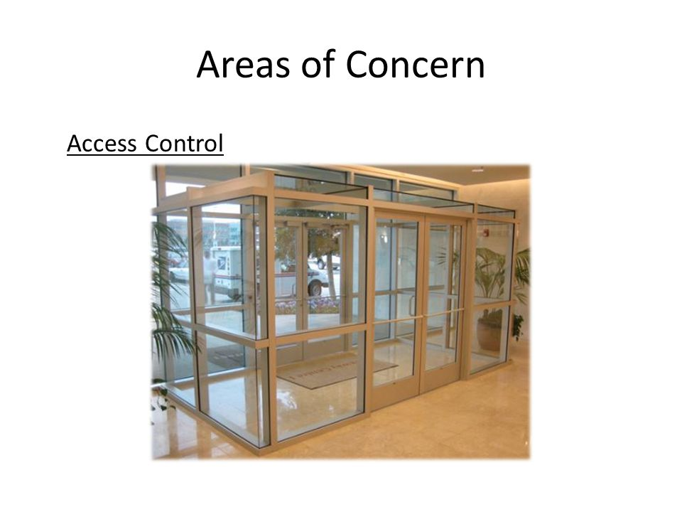 Areas of Concern Access Control