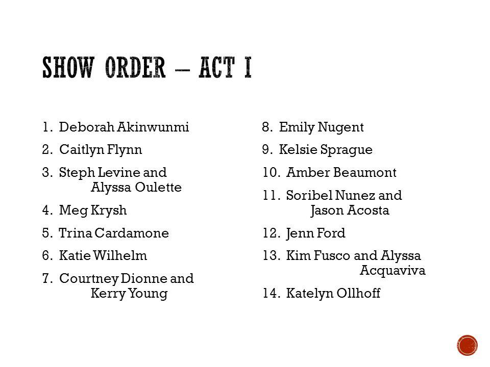 1. Deborah Akinwunmi 2. Caitlyn Flynn 3. Steph Levine and Alyssa Oulette 4. Meg Krysh 5. Trina Cardamone 6. Katie Wilhelm 7. Courtney Dionne and Kerry