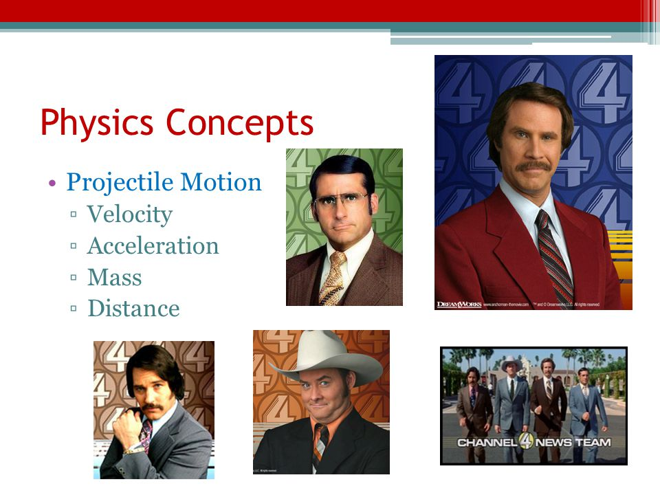 Physics Concepts Projectile Motion Velocity Acceleration Mass Distance
