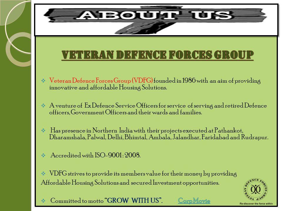 VETERAN DEFENCE FORCES GROUP PRESENTS JVTS GREENS UNDER dda Land Pooling Policy Delhi L- Zone (Dwarka Project) VETERAN DEFENCE FORCES GROUP PRESENTS J