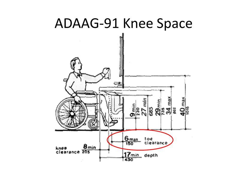 ADAAG-91 Knee Space