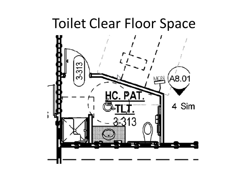 Toilet Clear Floor Space