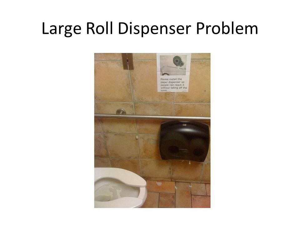 Large Roll Dispenser Problem