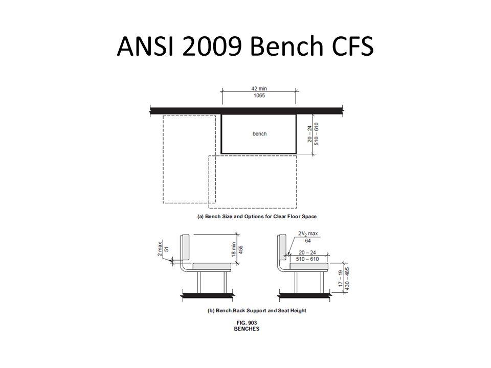 ANSI 2009 Bench CFS