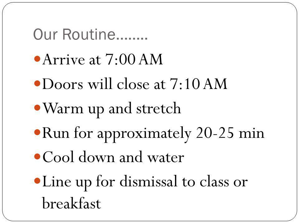 Our Routine……..