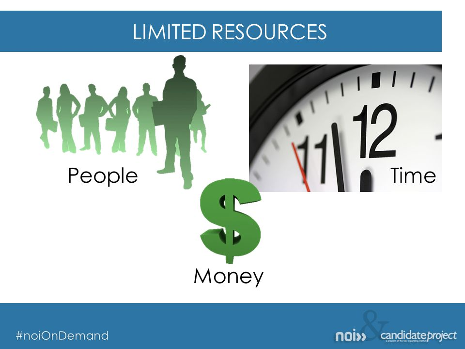 & #noiOnDemand & #noiOnDemand LIMITED RESOURCES People Money Time
