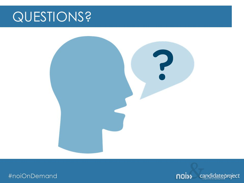 & #noiOnDemand & #noiOnDemand QUESTIONS