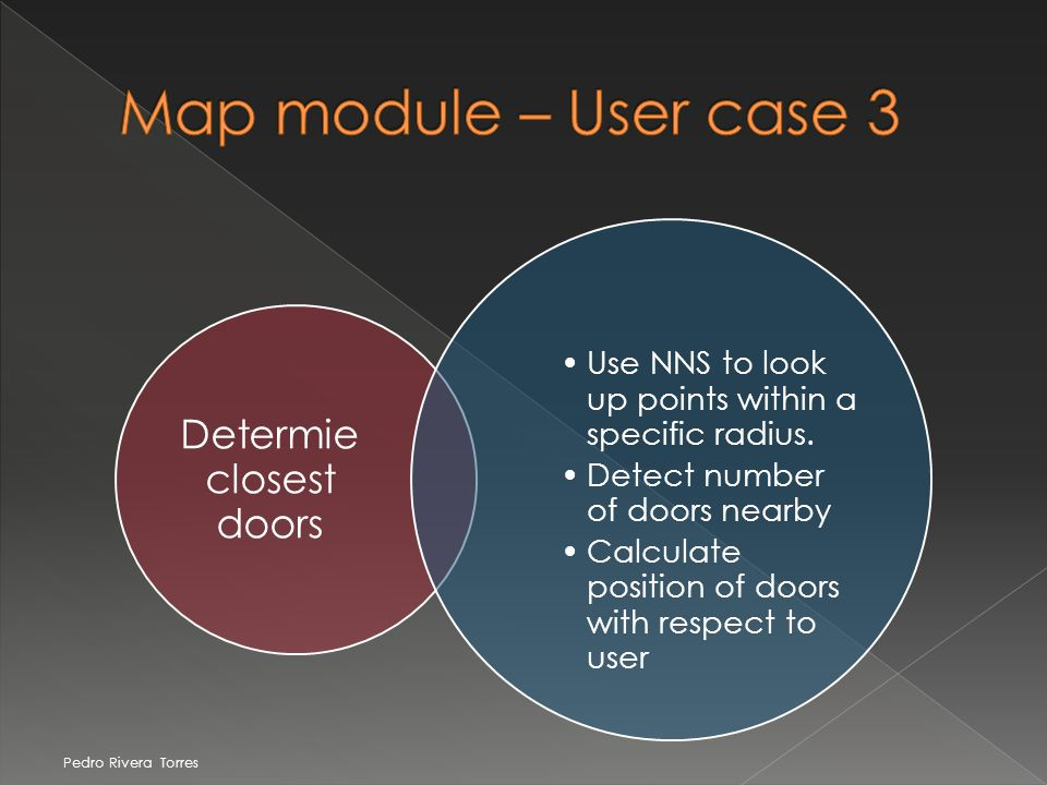 Determie closest doors Use NNS to look up points within a specific radius.