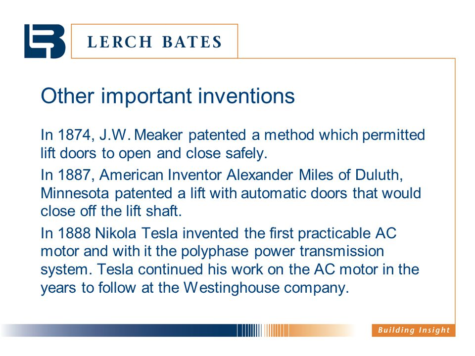 Other important inventions In 1874, J.W.