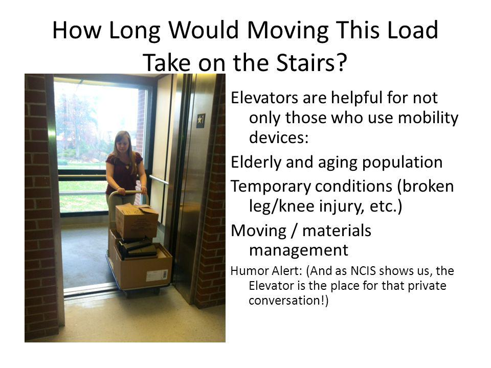 How Long Would Moving This Load Take on the Stairs.