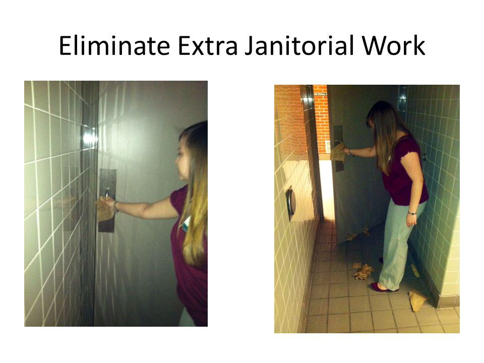 Power Assist Door Cleaner Easy to open-all can open the door No need for extra janitorial work picking up paper towels No need for extra garbage can